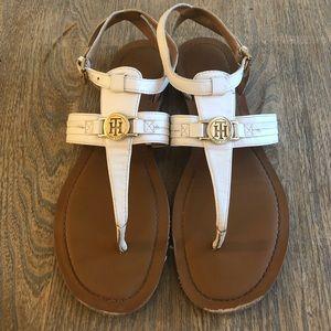 Tommy Hilfiger White Sandals